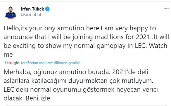 MAD Lions, Armut Transferini Duyurdu.