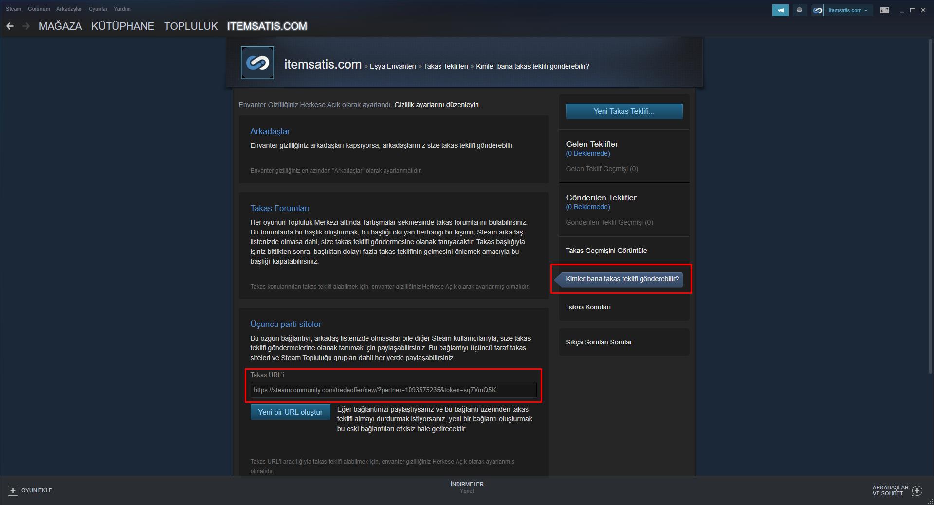 Steam TRADE URL Nasıl Oluşturulur?