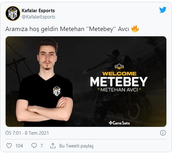 PUBG arenasına giren Kafalar Esports Metebey ile anlaştı!