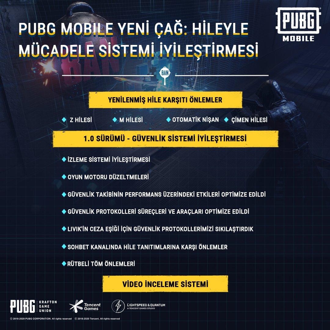 PUBG Mobile 1.0 Güncellemesi ile birlikte yeni hile koruması geliyor.