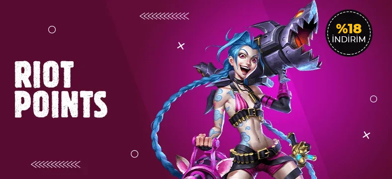 LoL League of Legends %18 İndirimli RP Satın Al