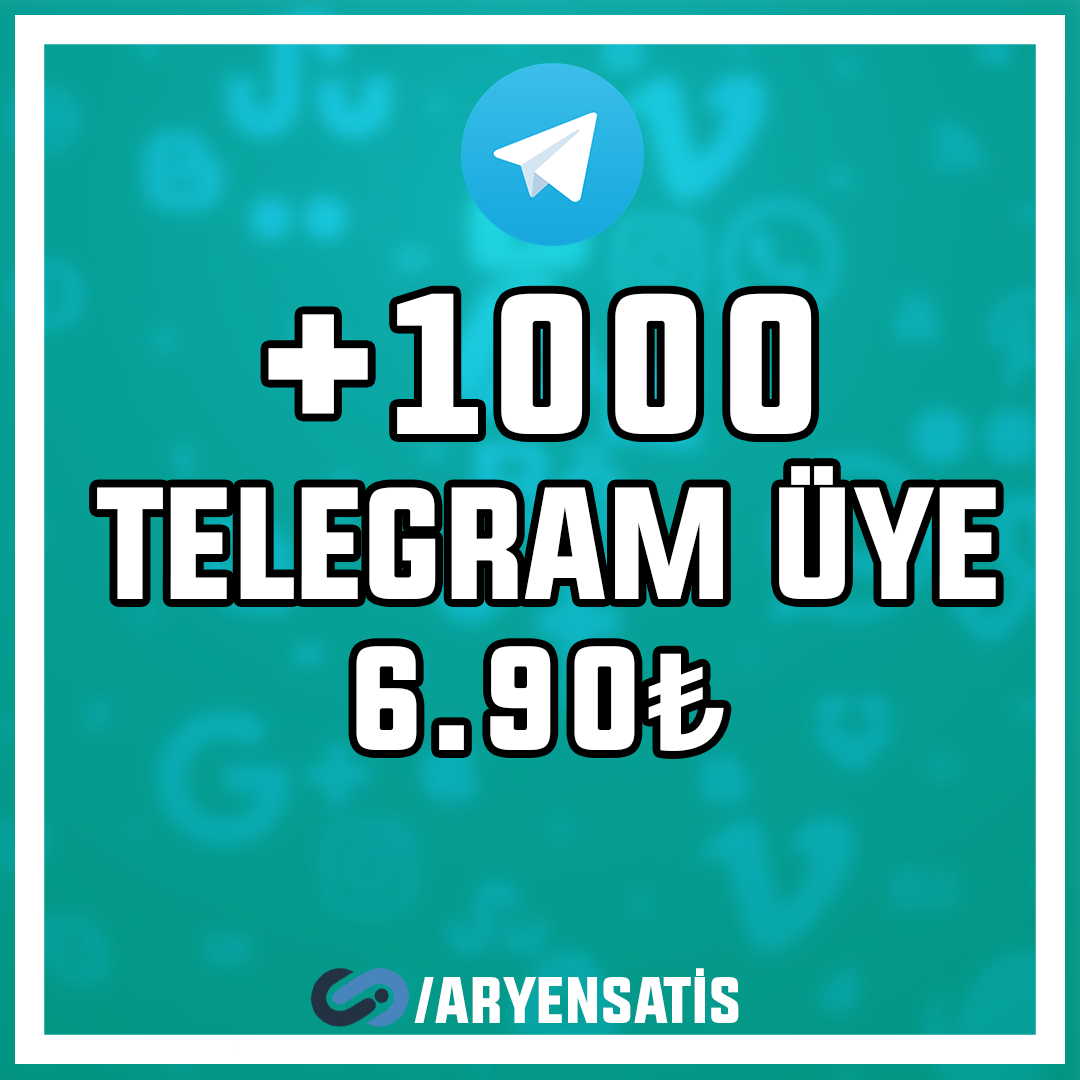 +1.000 Telegram Üyesi