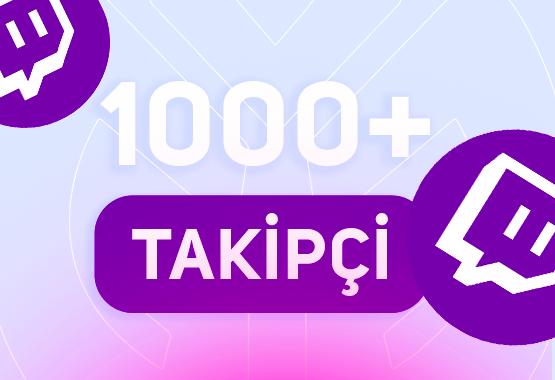 +1.000 TWİTCH TAKİPÇİ // 7/24 ANINDA TESLİMAT !