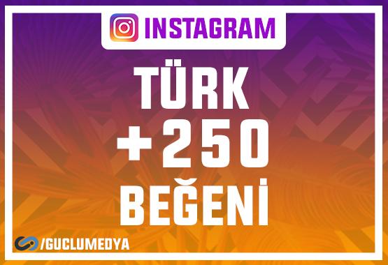 +250 Türk Beğeni