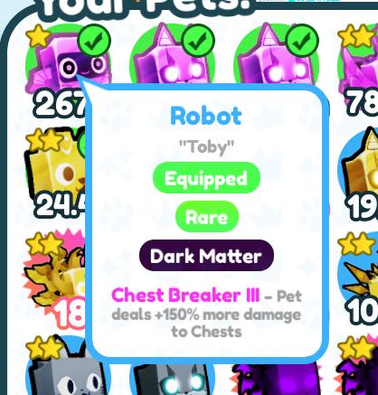 1 Adet Dark Metter Robot 267M Chest Breaker III