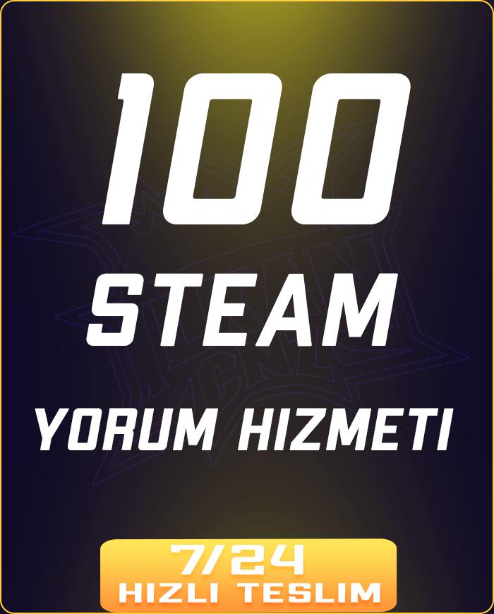 100 ADET STEAM YORUM HİZMETİ !!