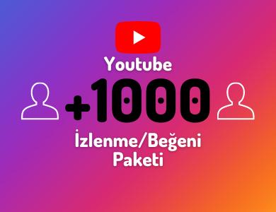 1000 %100 Türk Video Beğeni Paketi