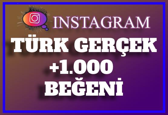 1.000 Instagram Türk Gerçek Beğeni | ANLIK