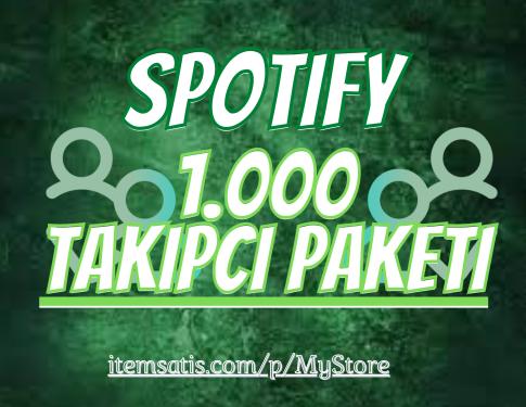 1.000 Spotify [Ömür Boyu Garanti] Takipçi