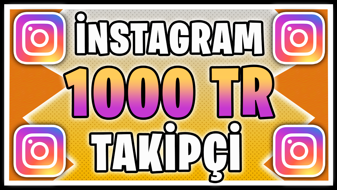 1000 TÜRK TAKİPÇİ / HIZLI TESLİM / KALİTELİ