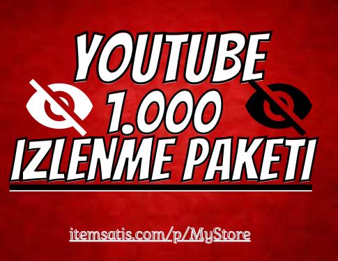 1.000 Youtube İzlenme Paketi [Garanti]