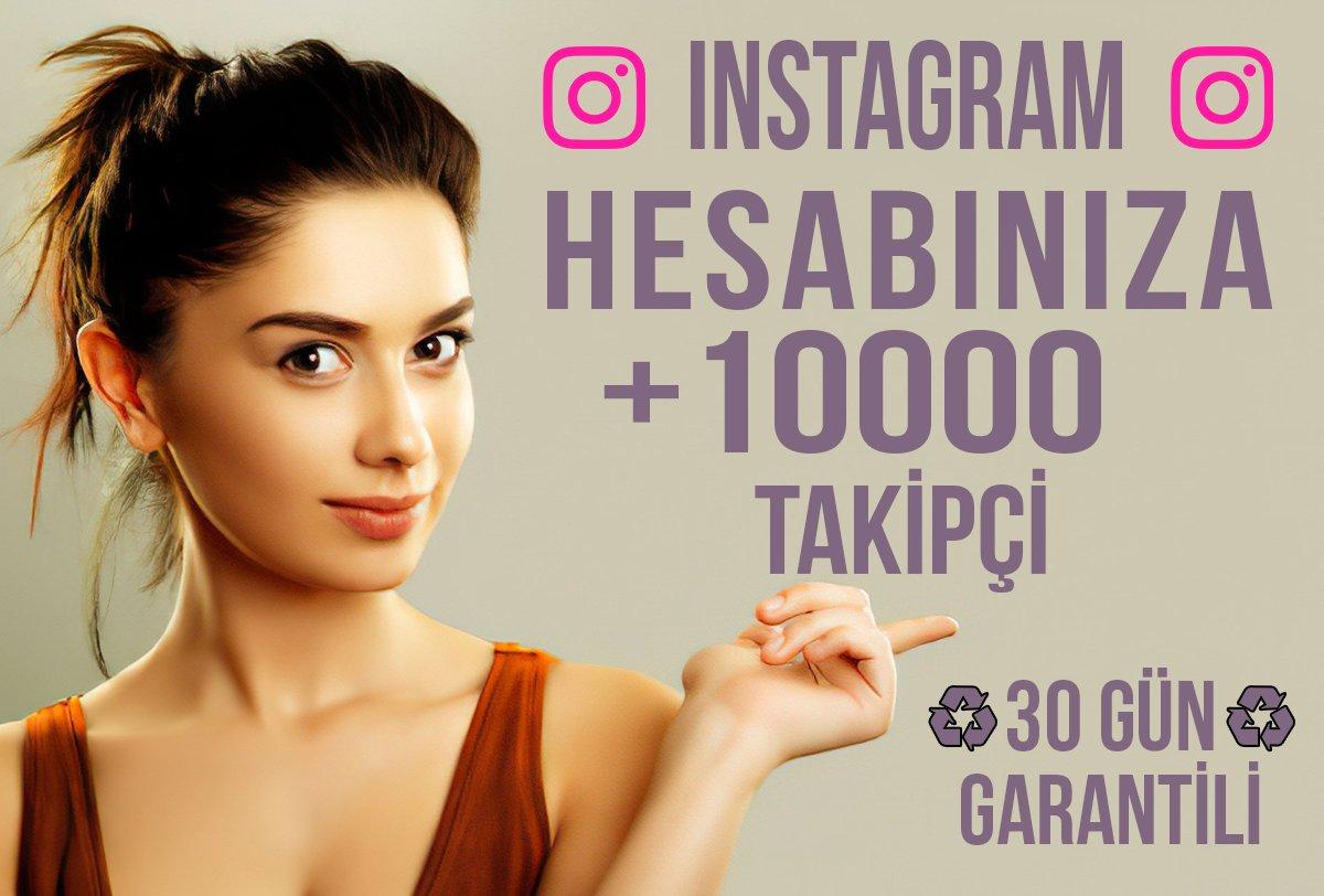 10000 Takipçi & 30 Gün Garantili!!!