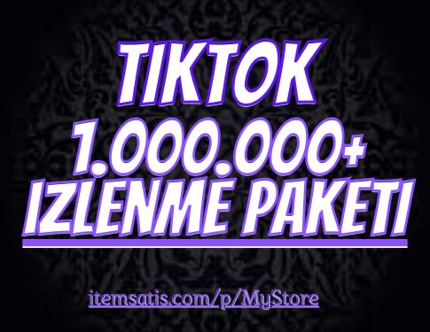 1.000.000 TikTok izlenme Paketi (Keşfet Etkili)