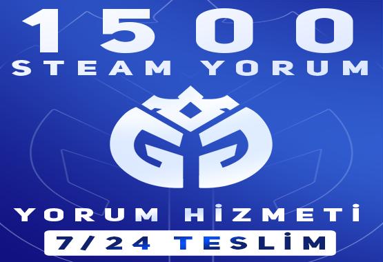 1500 ADET STEAM YORUM HİZMETİ !