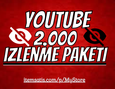 2.000 Youtube İzlenme Paketi [Garanti]