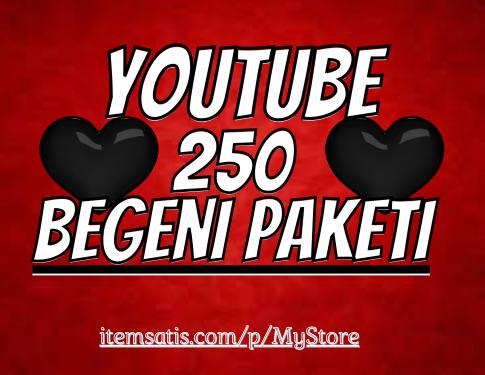 250 Youtube [30 Gün Telafi] Beğeni Paketi