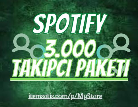 3.000 Spotify [Ömür Boyu Garanti] Takipçi