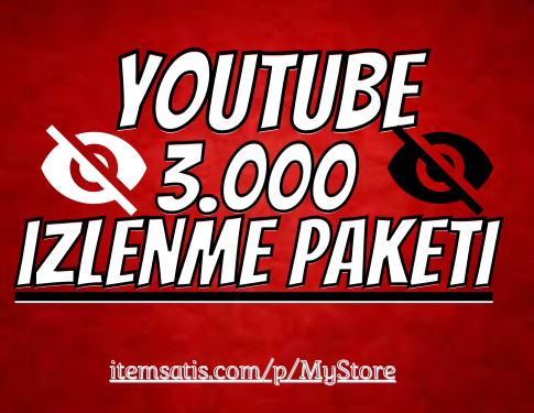 3.000 Youtube İzlenme Paketi [Garanti]