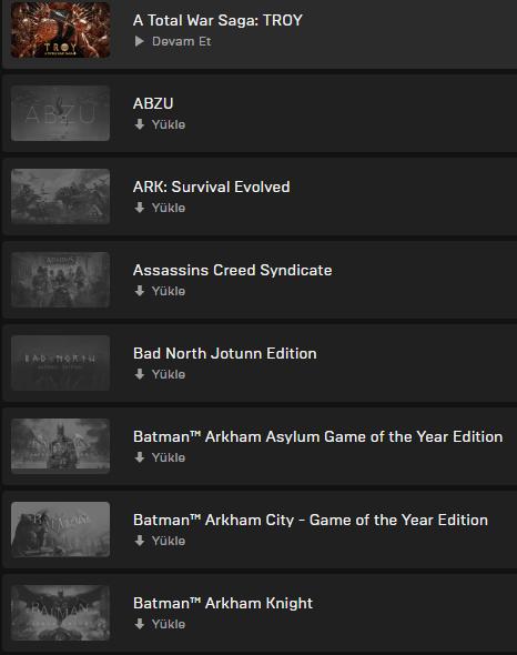 40 Oyunlu Epic Games Hesabı