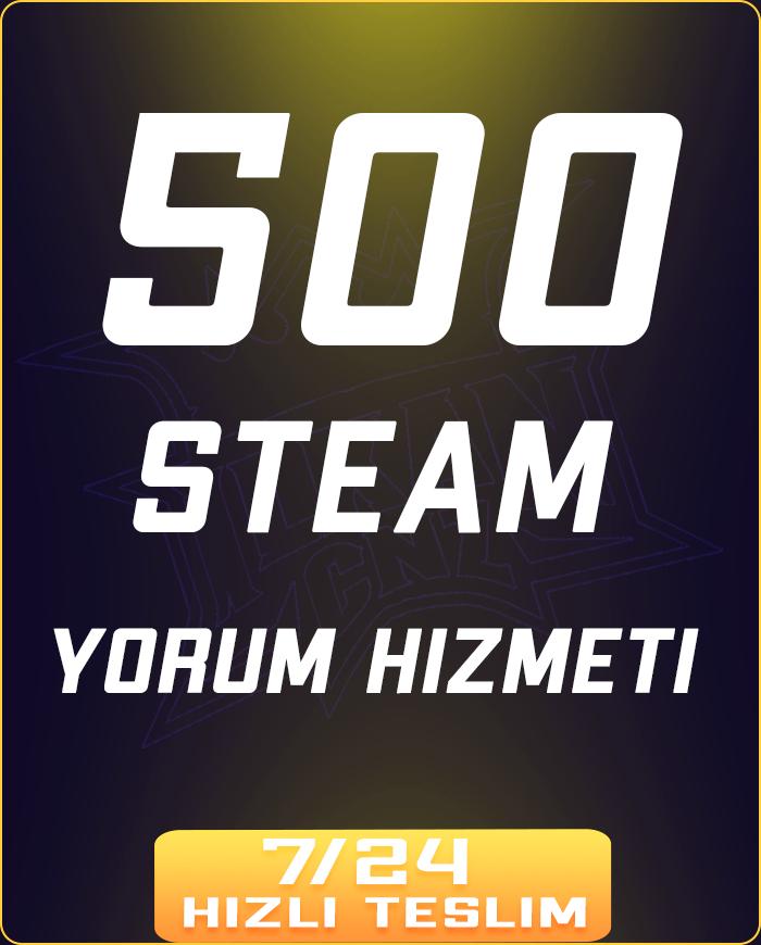500 ADET STEAM YORUM HİZMETİ !