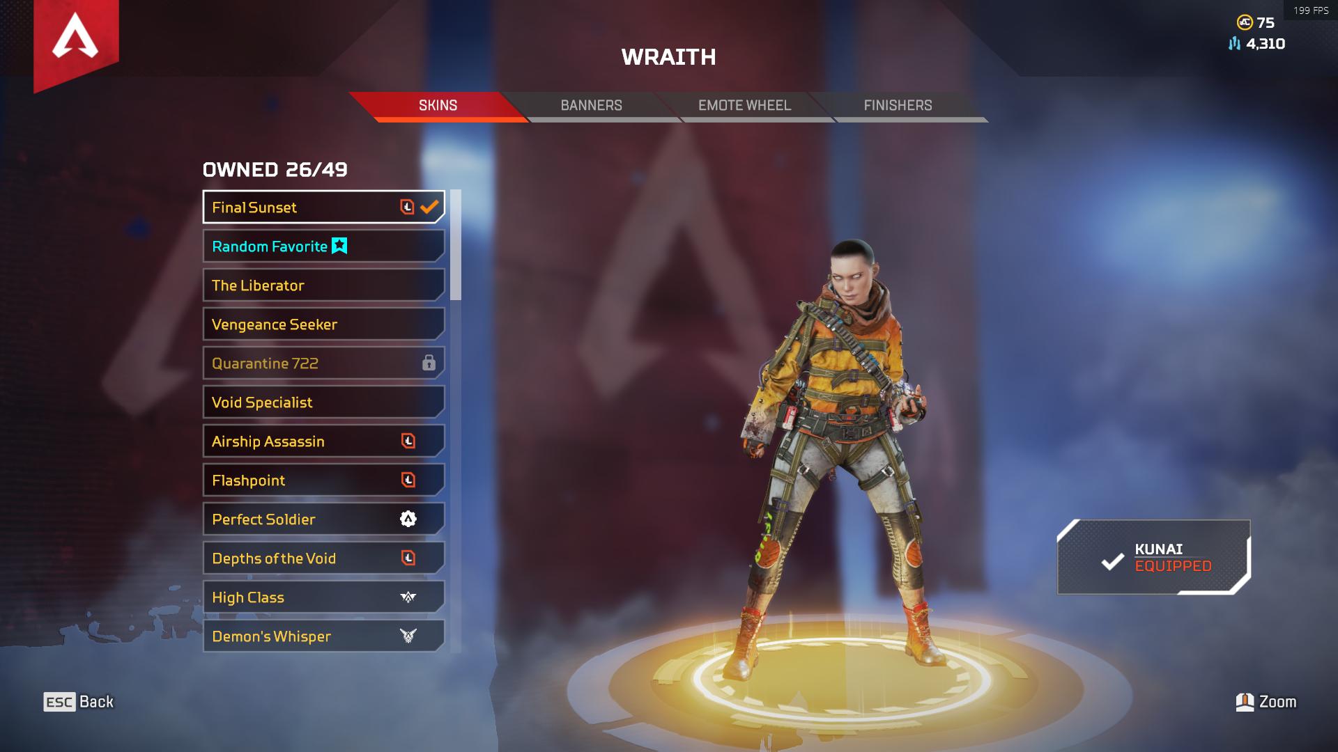500 Lv wraith heirloom main hesap