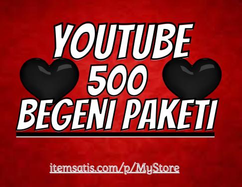 500 Youtube [30 Gün Telafi] Beğeni Paketi