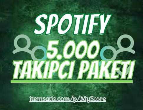 5.000 Spotify [Ömür Boyu Garanti] Takipçi