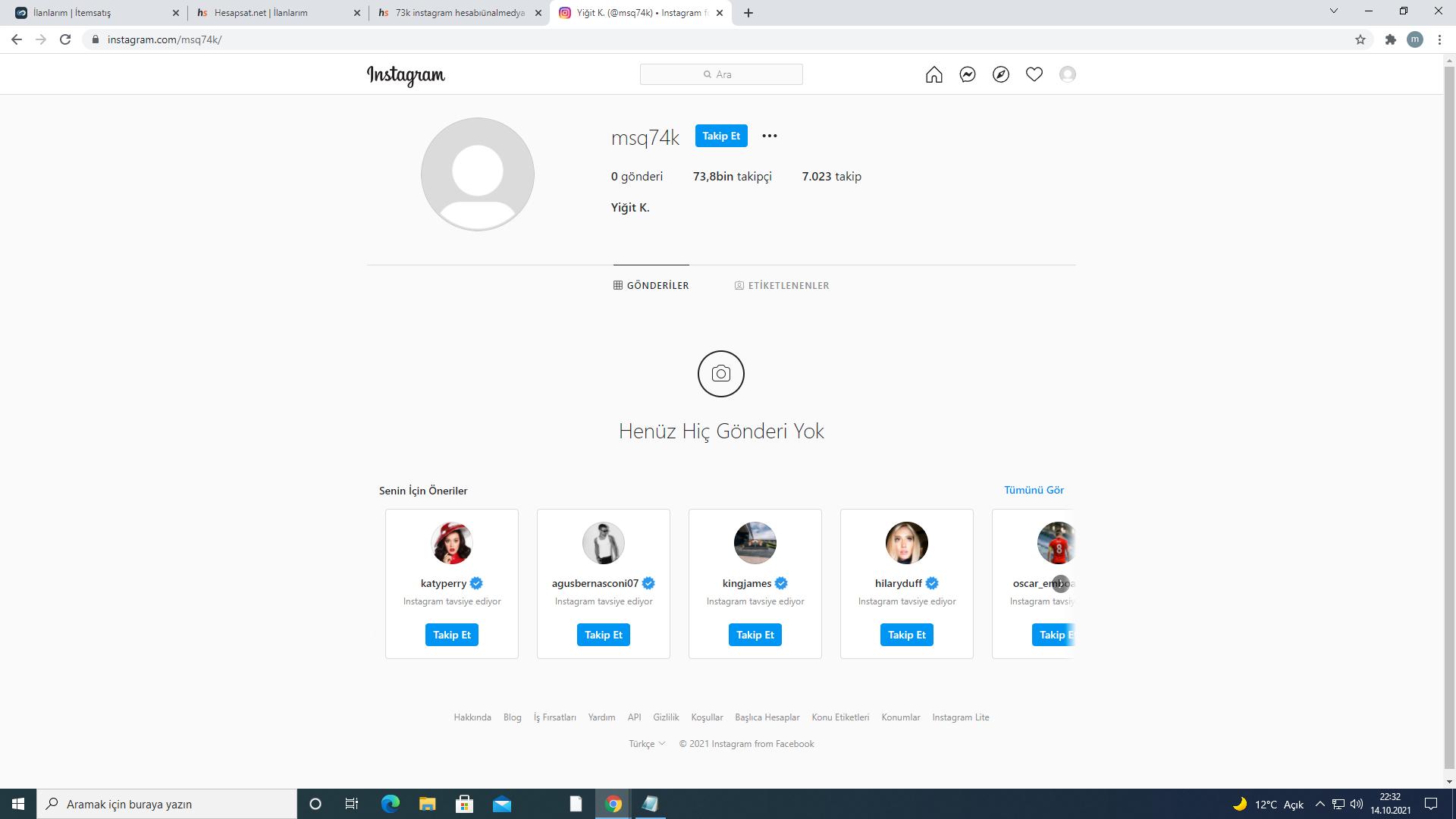 74K Instagram hesabı Satılır