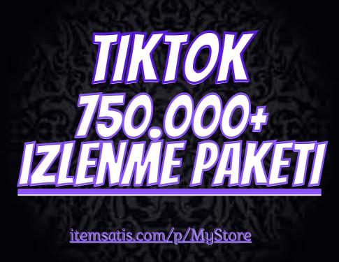 750.000 TikTok izlenme Paketi (Keşfet Etkili)