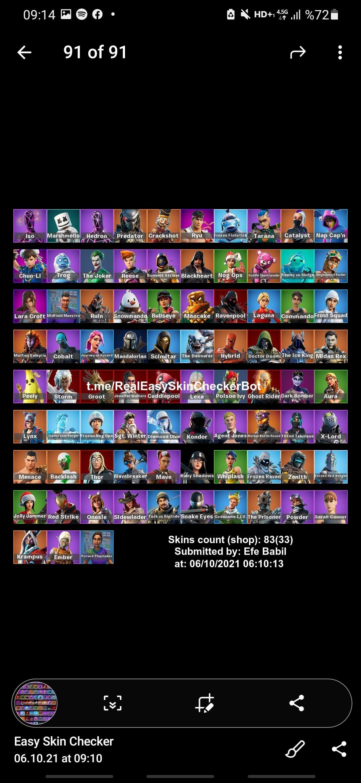 83 skin epic games n uyumlu joker paketli