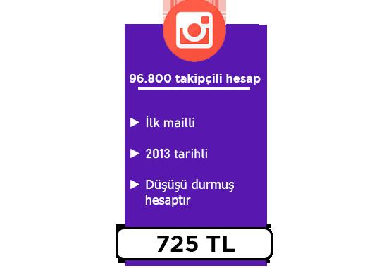 96800 Takipçili Hesap