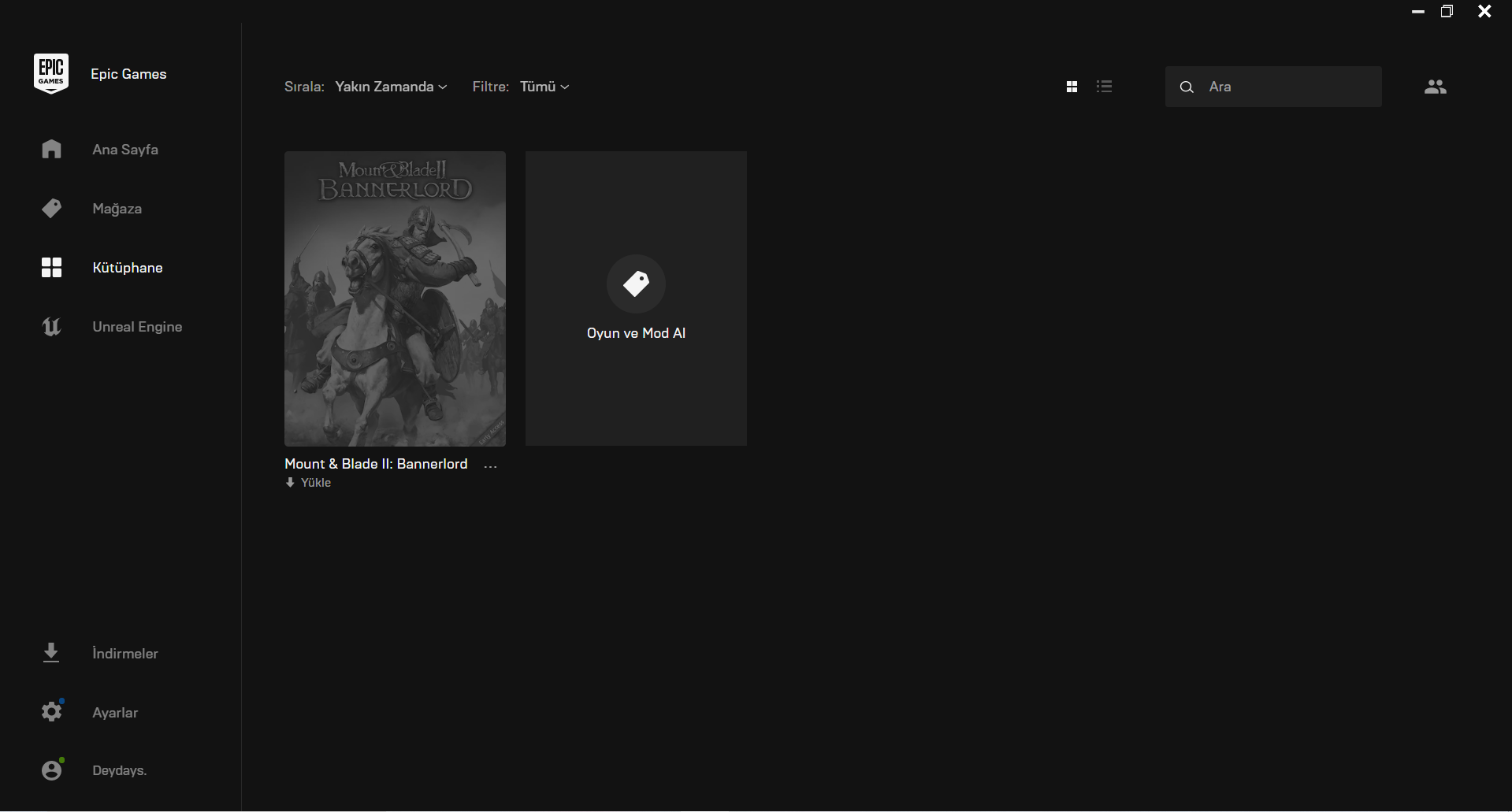 Bannerlord Epicgames Hesabı