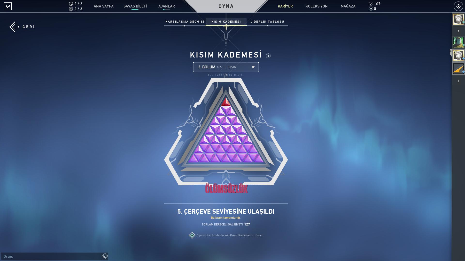 Bol Skinli Diamond 2 (İmmo elo) hesap