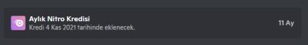 Discord 1 yıllık boostlu nitro