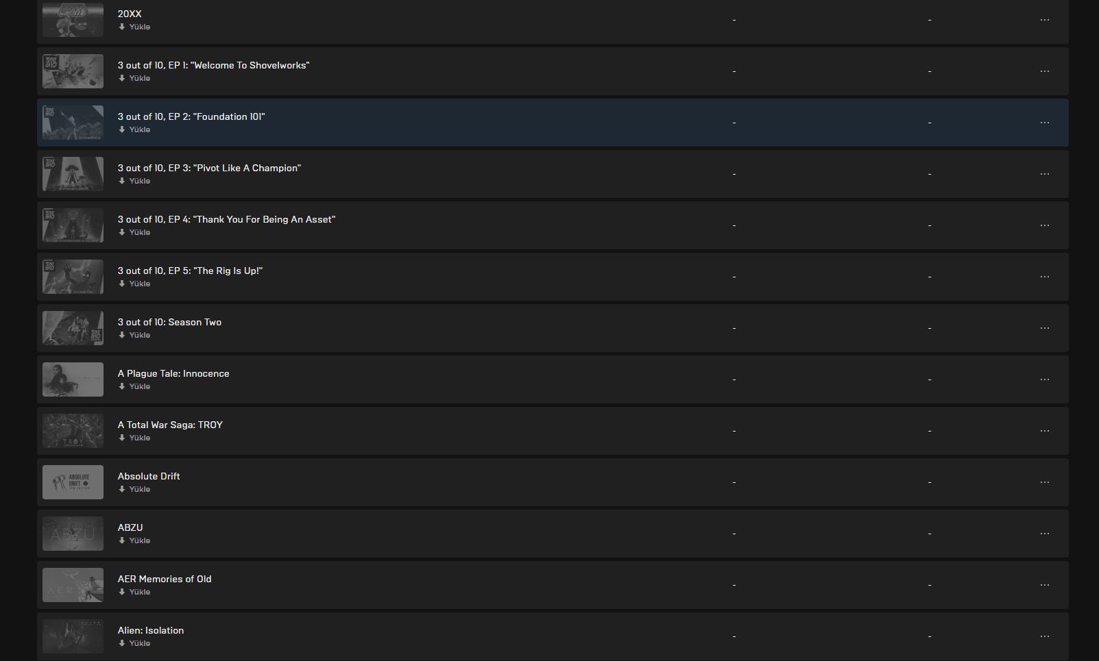 Epic Games Hesabı (156 oyunlu)