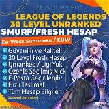 ✅60K+ Eu West 30 Level Unranked Hesap - EUW✅