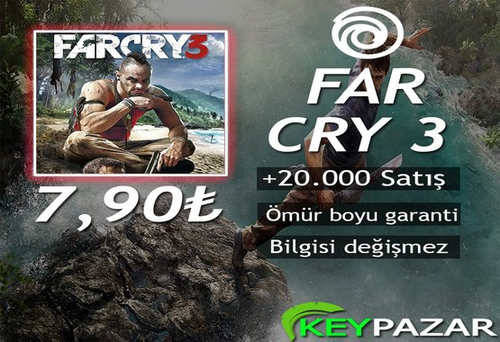 FAR CRY 3 ÖMÜR BOYU GARANTİ + HEDİYELİ!
