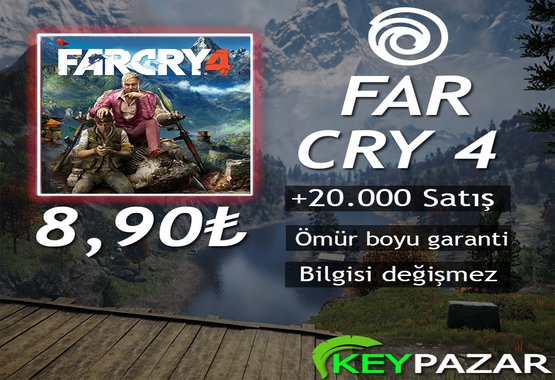 FAR CRY 4 ÖMÜR BOYU GARANTİ + HEDİYELİ!