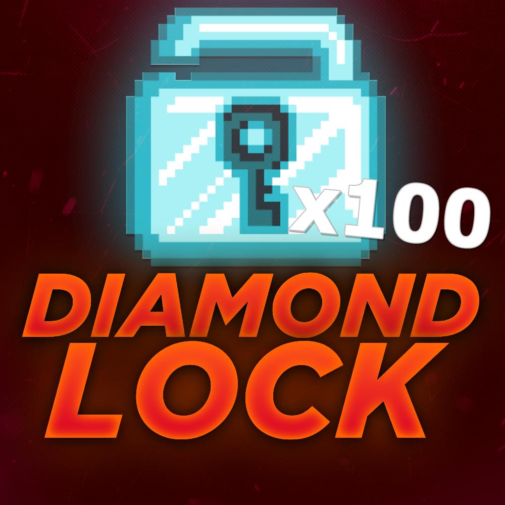 Growtopia 100 Diamond Lock!