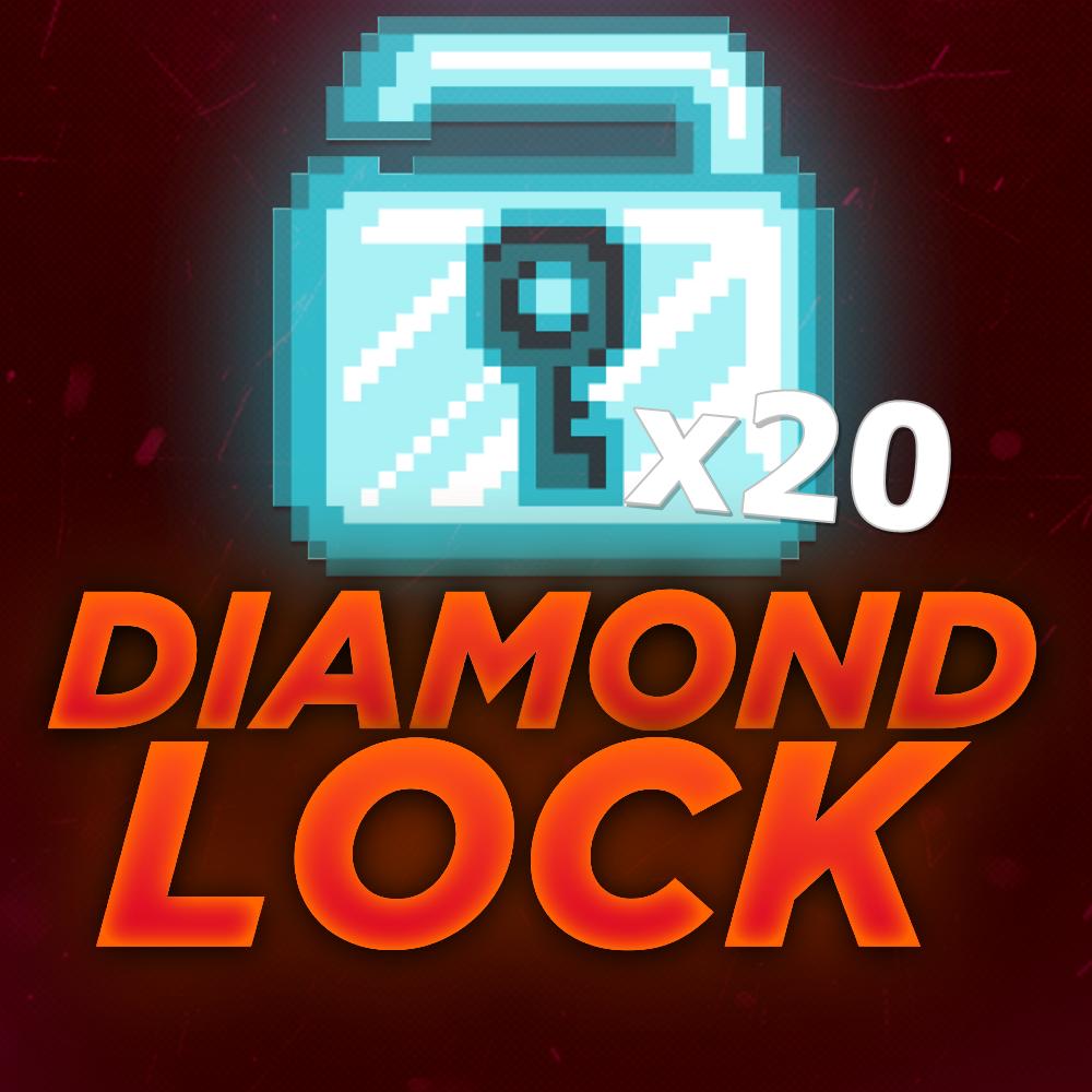 Growtopia 20 Diamond Lock!