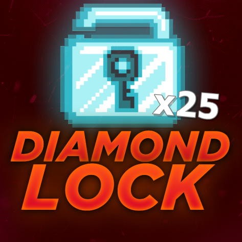 Growtopia 25 Diamond Lock!