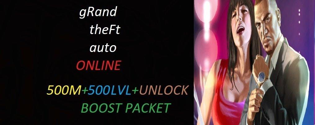 GTA5 ONLİNE 500 MİLYON PARA 500 LEVEL VE UNLOCK