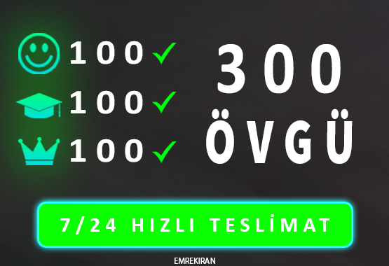 KAÇIRMA 300 ADET ÖVGÜ BOOST HIZLI TESLİMAT !!!
