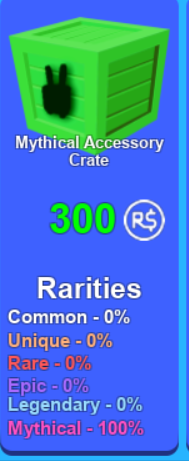 Mining Simulator Mythical Accessory Crate