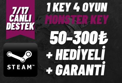 MONSTER KEY +GARANTİ +HEDİYELİ (50-300₺)
