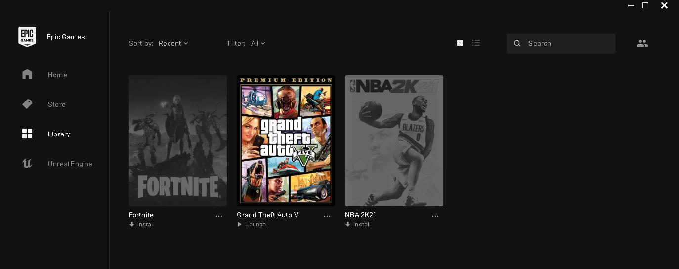 NBA 2K21 VE GTA V BULUNAN EPİC GAMES HESABI