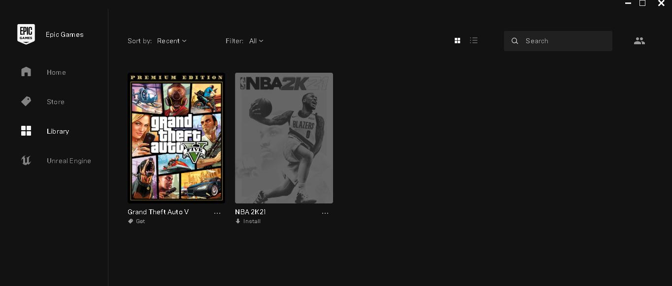 NBA2K21 OYUNU BULUNAN EPİC GAMES HESABI