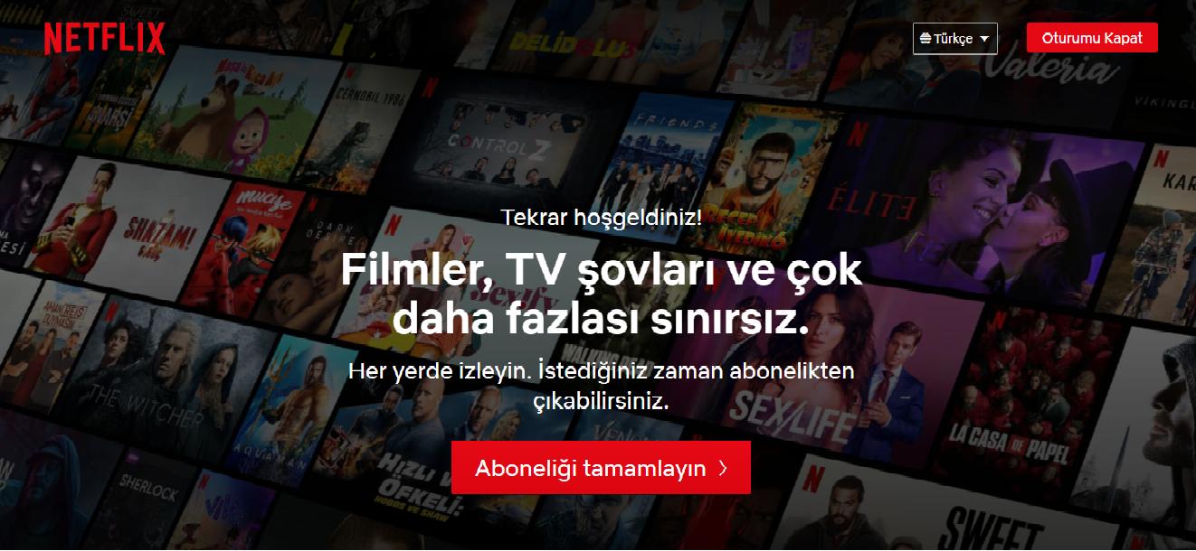 Netflix 4K Full HD Hesap