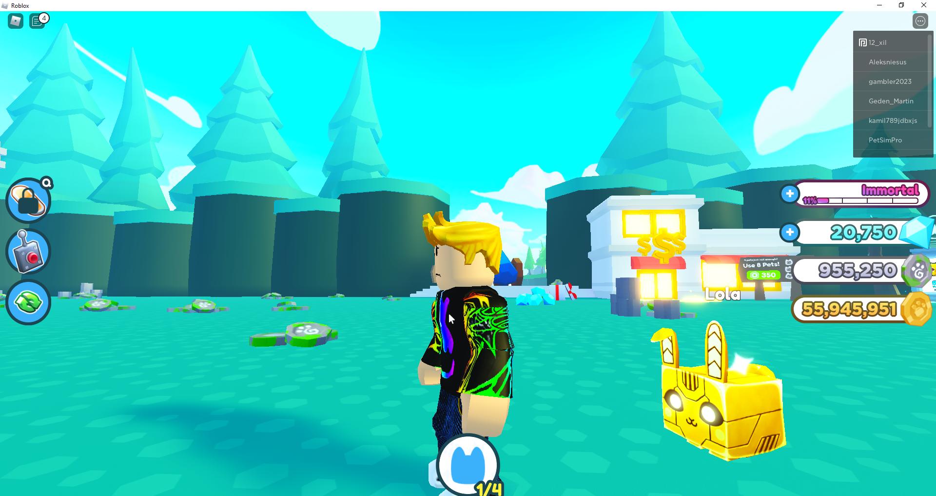 Pet Simulator X Lola golden pet