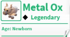 Roblox Adopt me! Metal Ox Legendary pet